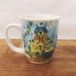 Cat lover mug.